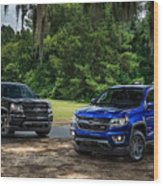 2016 Chevrolet Colorado Midnight Edition Trail Boss Wood Print