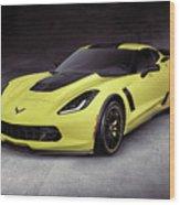 2016 Chevrolet Corvette Z06 Coupe Sports Car Wood Print