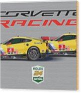 2016 Daytona 24 Hour Corvette Poster Wood Print