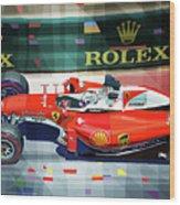 2016 Ferrari Sf16-h Vettel Monaco Gp  Wood Print