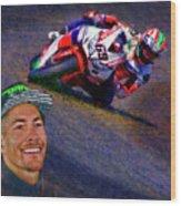 2016 Fim Superbike Nicky Hayden Wood Print