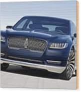 2016 Lincoln Continental Concept Wood Print