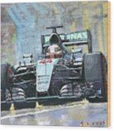 2016 Monaco Gp Mercedes Amg Petronas Hamilton  Wood Print