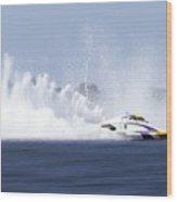 2016 Taree Race Boats 01 Wood Print