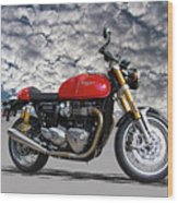 2016 Triumph Cafe Racer Motorcycle Wood Print