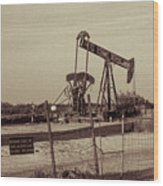 2016_10_pecos Tx_ Pump Jacks 1 Wood Print