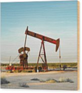 2016_10_pecos Tx_pump Jacks 2 Wood Print