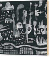 2017-04-08-black-white Wood Print