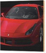 2017 Ferrari 488 Gtb Wood Print