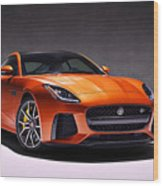 2017 Jaguar F Type Wood Print