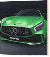 2017 Mercedes Amg Gt R Coupe Sports Car Wood Print