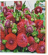 2017 Monona Farmers' Market August Dahlias 1 Wood Print