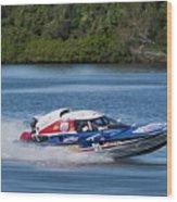2017 Taree Race Boats 01 Wood Print