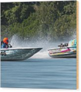 2017 Taree Race Boats 08 Wood Print