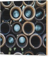 2017_05_drill Pipe Lights 1 Wood Print