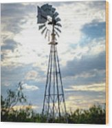 2017_08_midland Tx_windmill 2 Wood Print