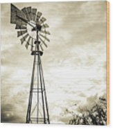 2017_08_midland Tx_windmill 3 Wood Print