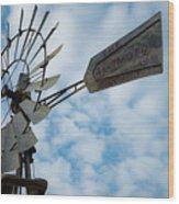 2017_08_midland Tx_windmill 5 Wood Print