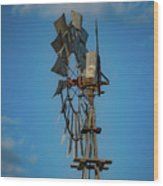 2017_08_midland Tx_windmill 8 Wood Print