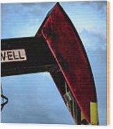 2017_09_midkiff Tx_oil Well Pump Jack Closeup 2 Wood Print