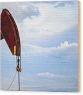2017_09_midkiff Tx_oil Well Pump Jack Closeup 4 Wood Print