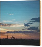 2017_09_midkiff Tx_rigs At Sunset 1 Wood Print