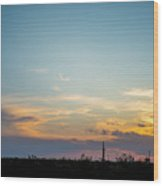 2017_09_midkiff Tx_rigs At Sunset 3 Wood Print