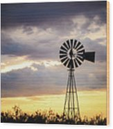 2017_09_midland Tx_windmill 3 Wood Print