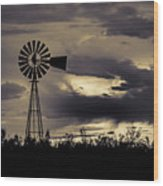 2017_09_midland Tx_windmill 8 Wood Print
