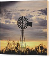 2017_09_midland Tx_windmill 9 Wood Print