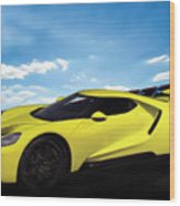 2018 Ford Gt At The Track Wood Print