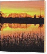2018_2_12  Vivid Sunset Reflection-4291 Wood Print