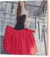 Fashion Shoot Wood Print