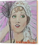 20's Glamour, Parasol Wood Print