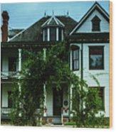 20th Century Mansion Wood Print