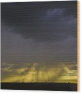Afternoon Nebraska Thunderstorm Wood Print
