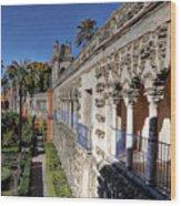 Alcazar Seville Sevilla Andalucia Spain Wood Print