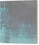 Blue Metal Wood Print