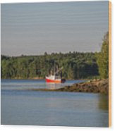 Down East Maine Wood Print