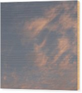 Evening Summer Sky Wood Print