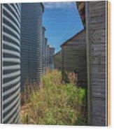 Back Alley On The Prairies Wood Print
