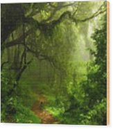 Landscape Work Wood Print