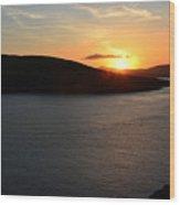 Sunset Dingle Wood Print