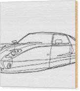 2102 Ford Gt Wood Print