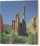 210806-h Spires In Garden Of The Gods Wood Print