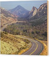 212308 Road To Sheep Creek Canyon Wood Print