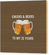 21st Birthday Gifts For Him Her Wood Print