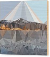 Abstract Art Landscape Of Triangles Wood Print