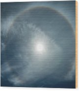 22 Degree Solar Halo Wood Print