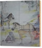 Here Come The Equines Album  Wood Print